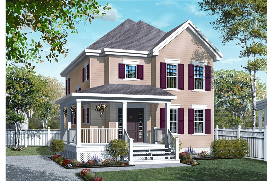 This is an artist's rendering for these House Plans.