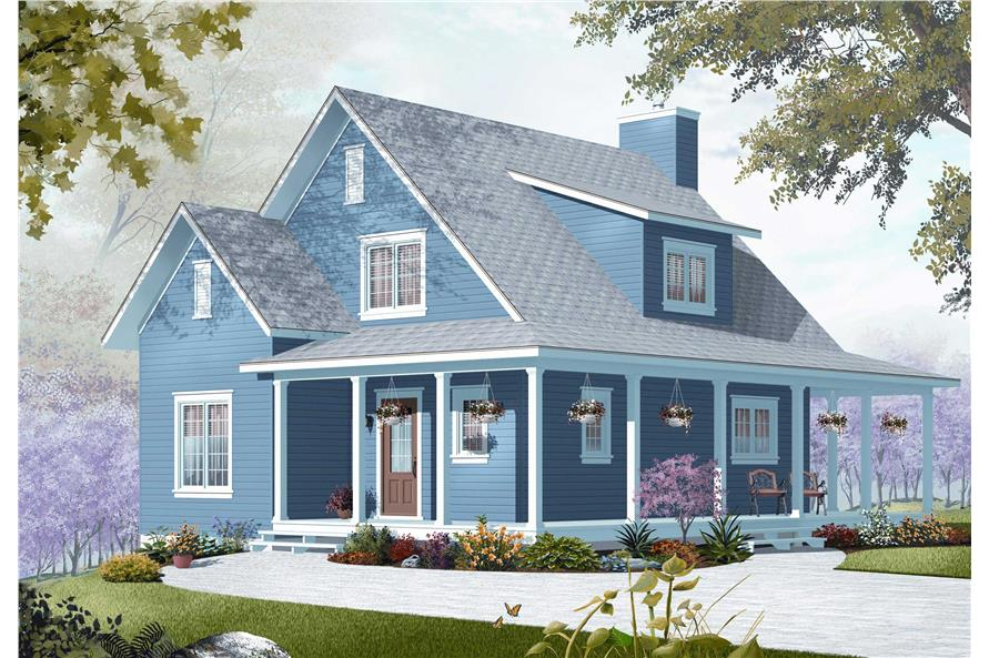 Front elevation of Country home (ThePlanCollection: House Plan #126-1154)