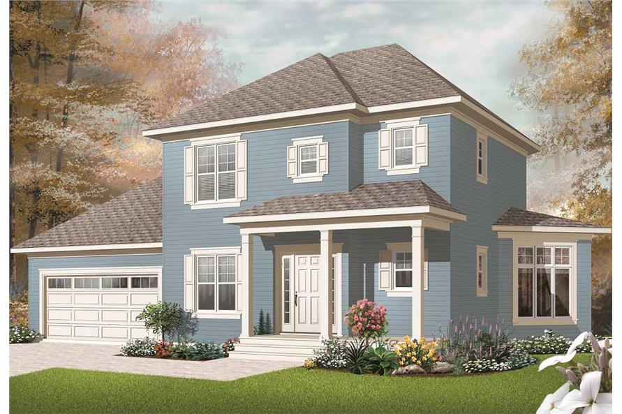 This is a computerized rendering for these Traditional Homeplans.