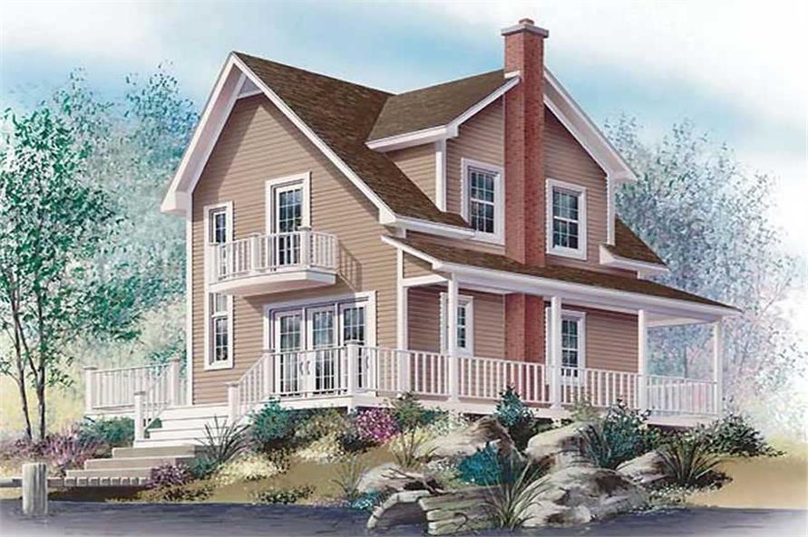 126-1218: Home Plan Rendering-Deck