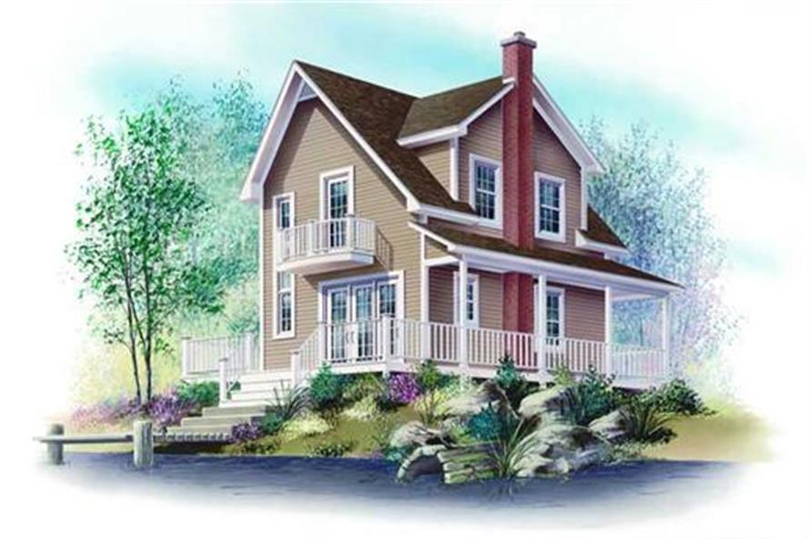 126-1218: Home Plan Rendering-Front Door