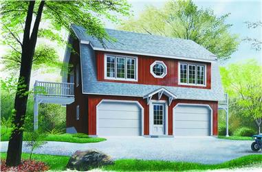 2-Bedroom, 996 Sq Ft Country House Plan - 126-1237 - Front Exterior
