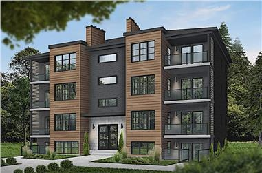 16-Bedroom, 7624 Sq Ft Multi-Unit House - Plan #126-1325 - Front Exterior