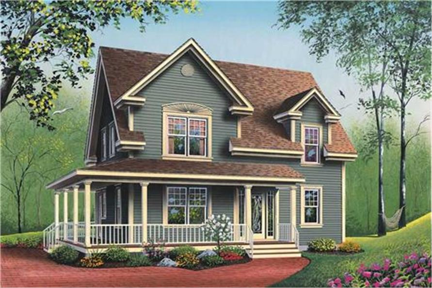 126-1339: Home Plan Rendering-Front Door