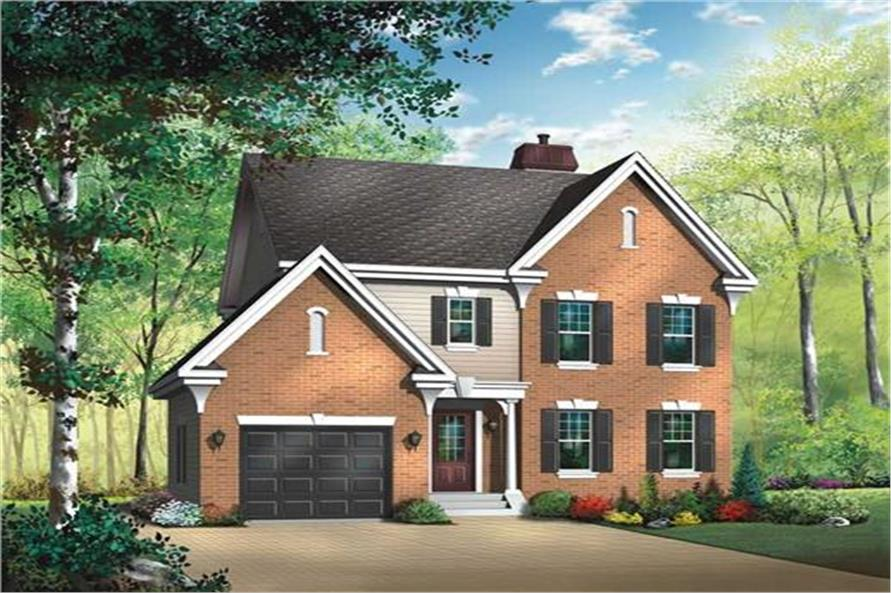 126-1340: Home Plan Rendering-Front Door