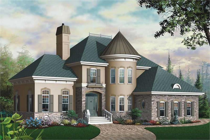 Main image for house plan # 8185