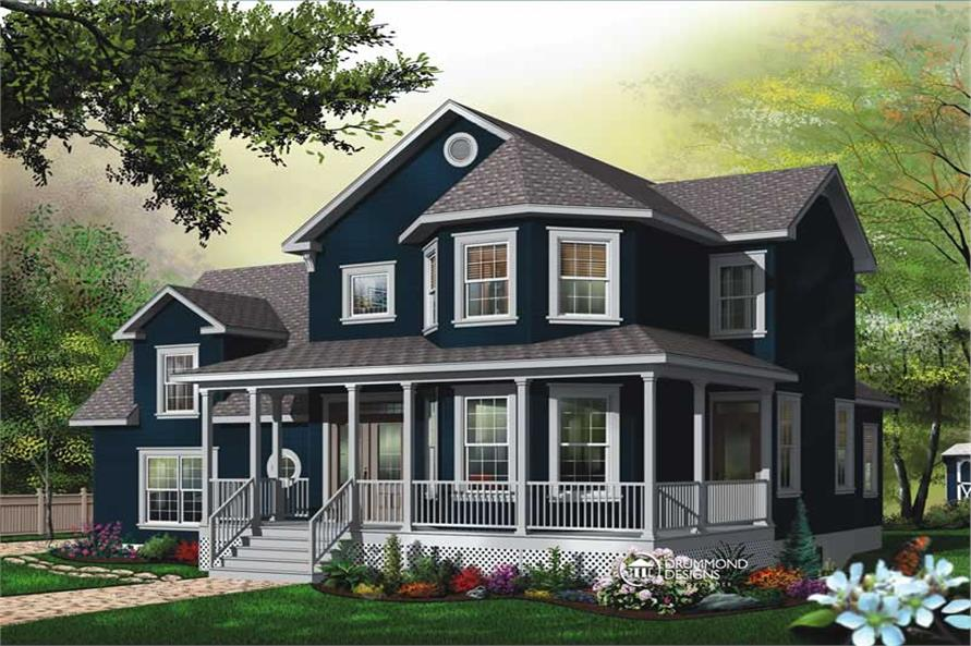 Main image for house plan # 8191