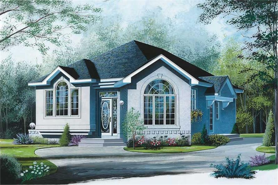 Main image for house plan # 12399