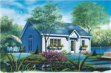 1-Bedroom, 784 Sq Ft Ranch House Plan - 126-1554 - Front Exterior