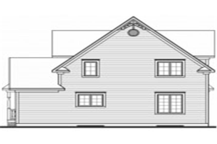 126-1587: Home Plan Rear Elevation