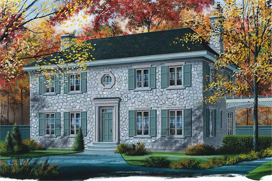 Main image for house plan # 12845