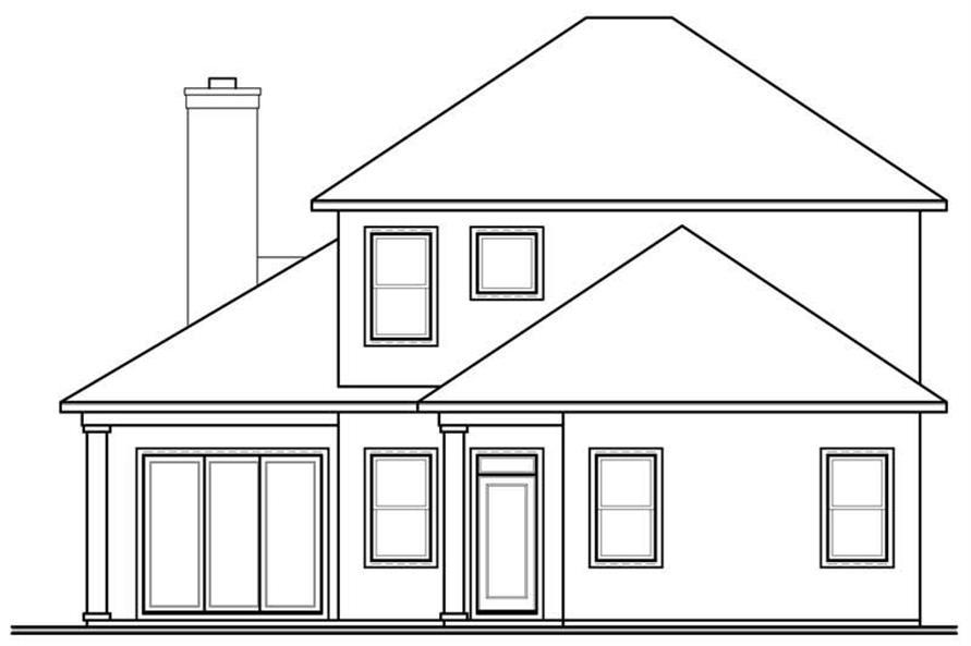 homeplan dd-3618 rear elevation