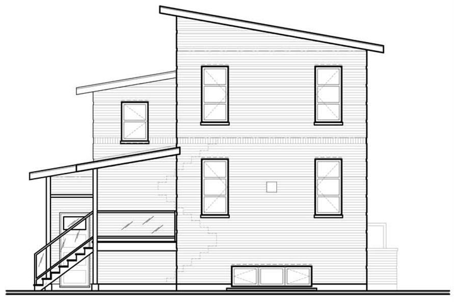 houseplan dd-3456 rear elevation
