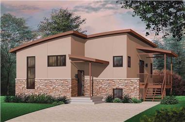 4-Bedroom, 1879 Sq Ft Bungalow House Plan - 126-1798 - Front Exterior