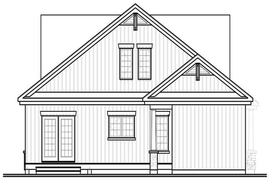 homeplan dd-3608 rear elevation