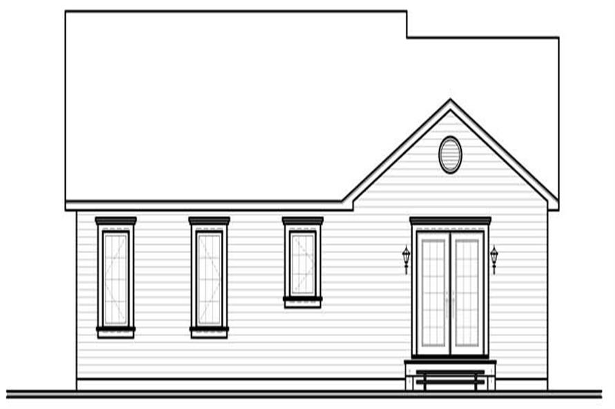 houseplan dd-3119 rear elevation