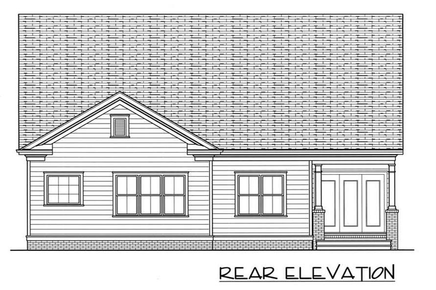 House Plan EDG-1539-A3 Rear Elevation