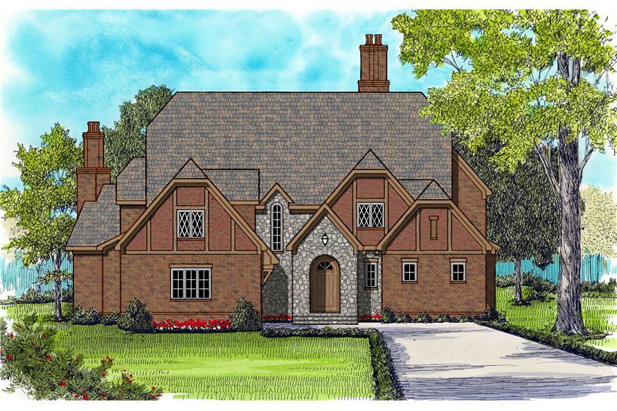 Luxury homeplans color rendering.