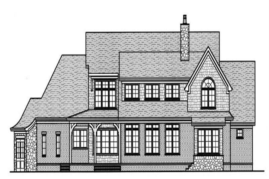 House Plan EDG-3798 Rear Elevation