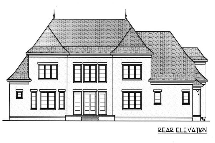 House Plan EDG-3928 Rear Elevation
