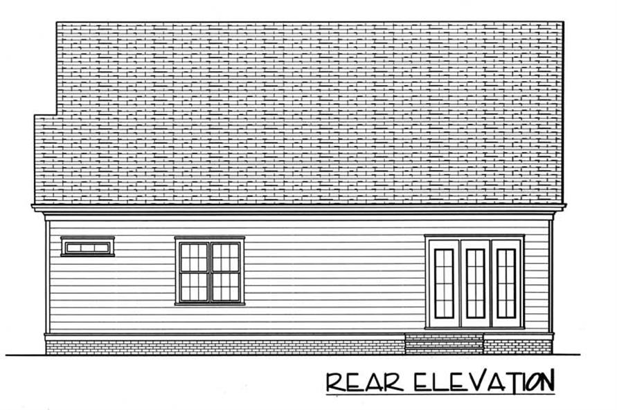 House Plan EDG-2021-A Rear Elevation