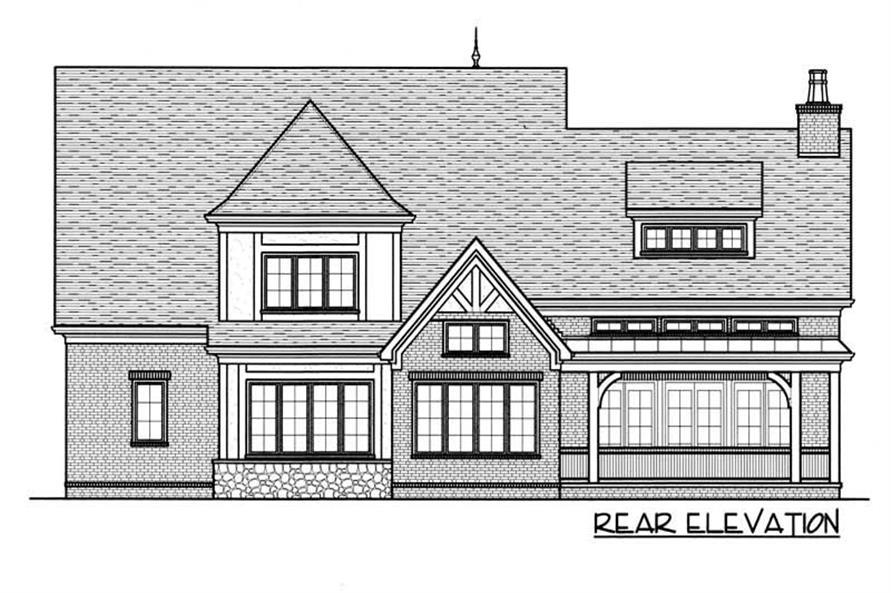House Plan EDG-3784 Rear Elevation