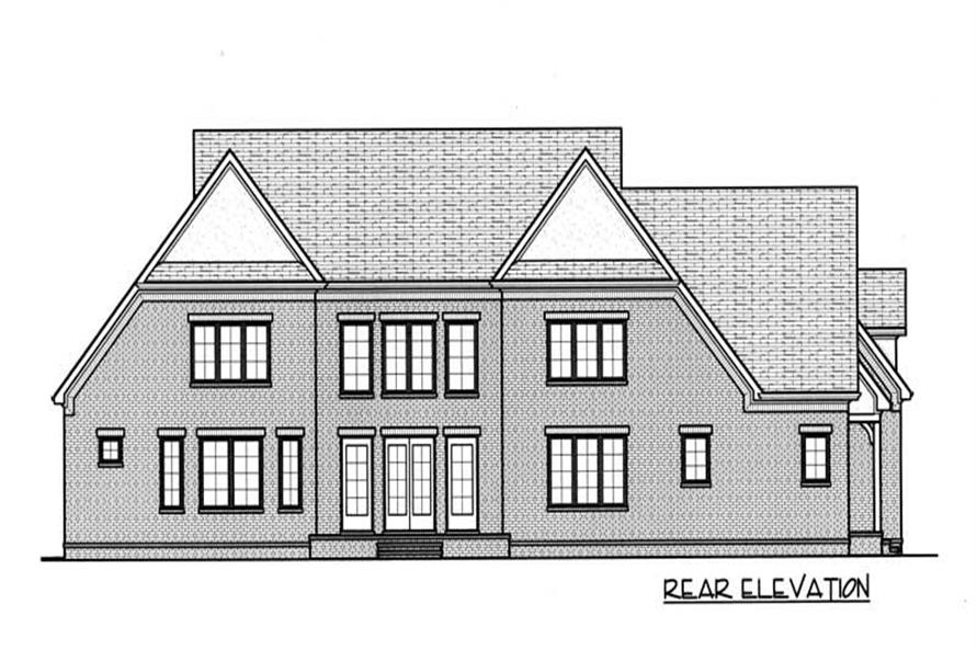 House Plan EDG-4069 Rear Elevation