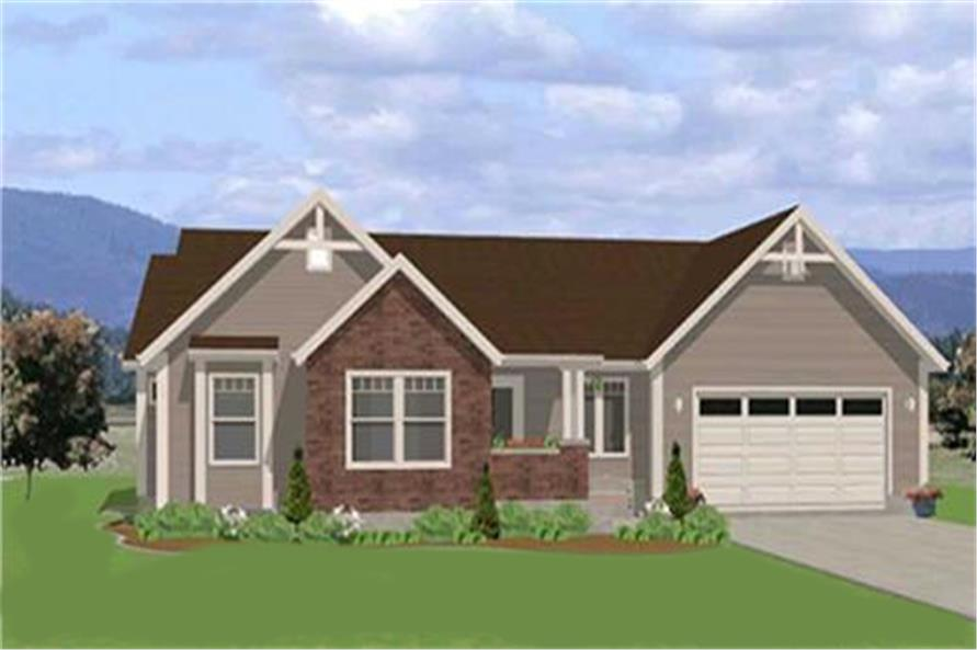129-1046: Home Plan Front Elevation