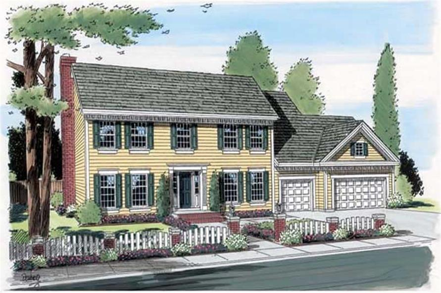 Main image for house plan # 20025