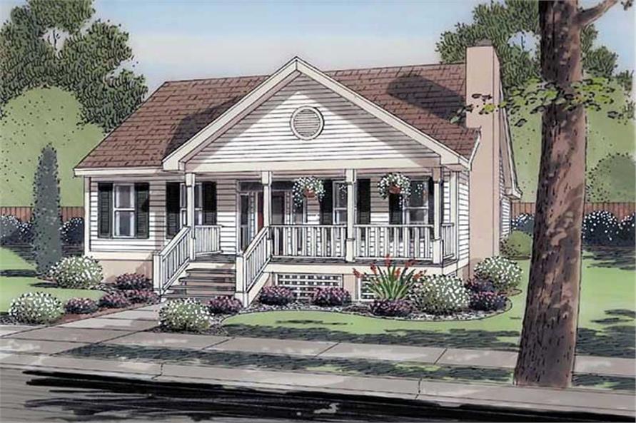 house plan GAR-74003 front elevation