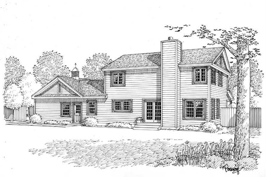 131-1115 house plan rear elevation