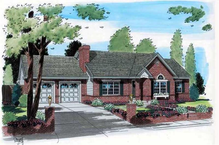 Main image for house plan # 20069