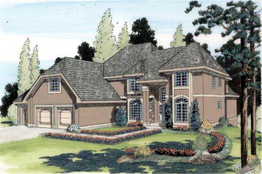This is a colored rendering of these House Plans.