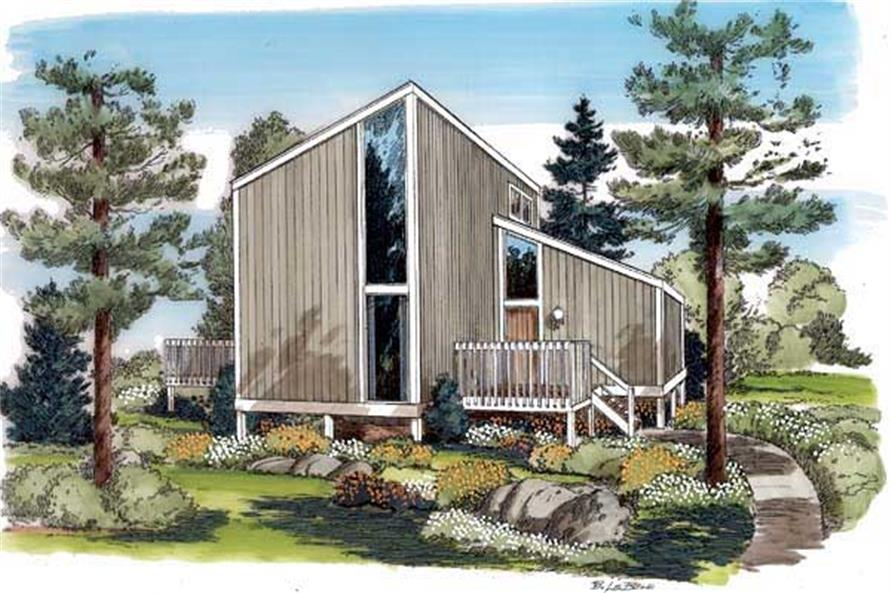 This is a color rendering of these Contemporary Homeplans.