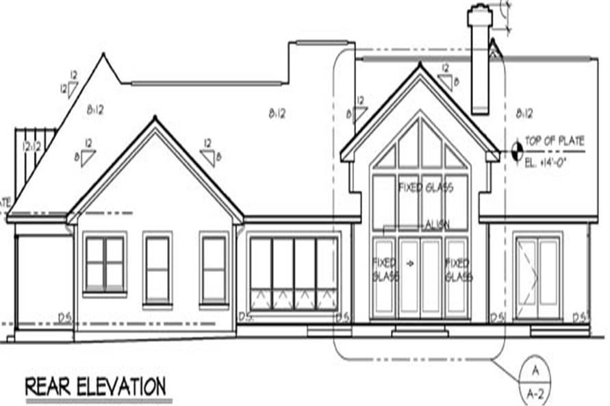 131-1174: Home Plan Rear Elevation