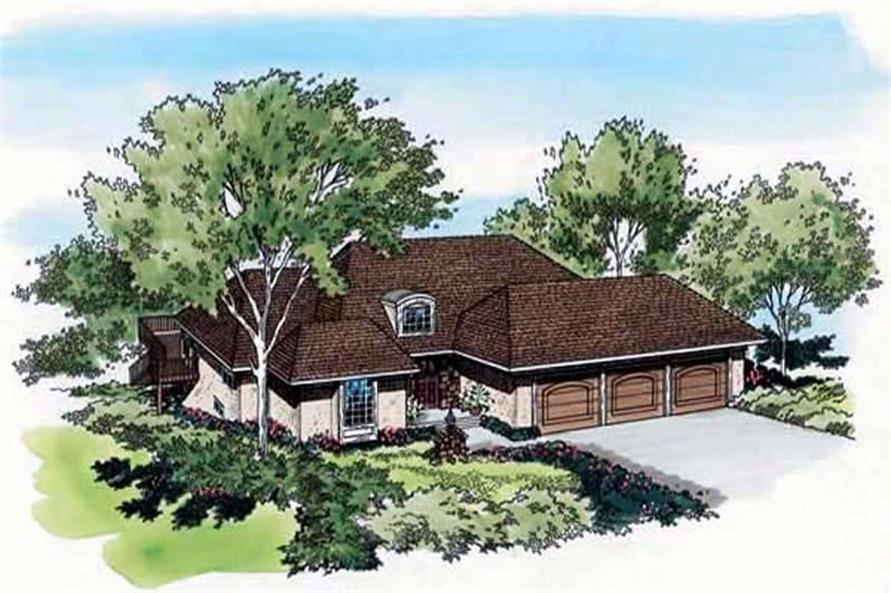 Main image for house plan # 19806