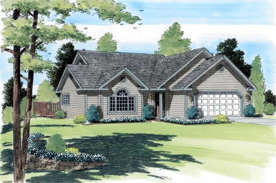 Main image for house plan # 19955