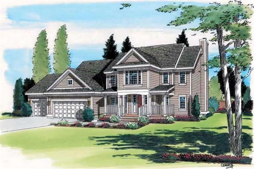 Main image for house plan # 20004