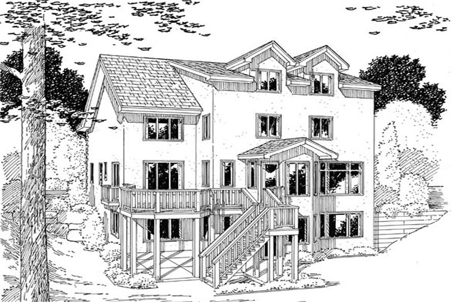 131-1233: Home Plan Rear Elevation