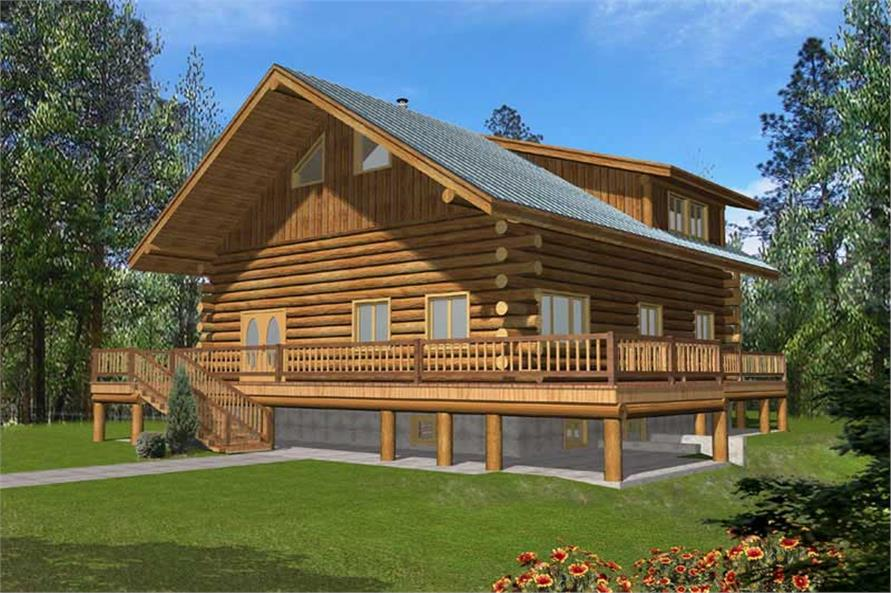 Log Cabins Elevation image.