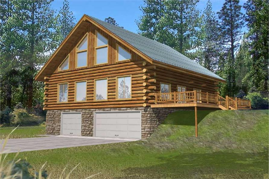 Log Homes Front Elevation.