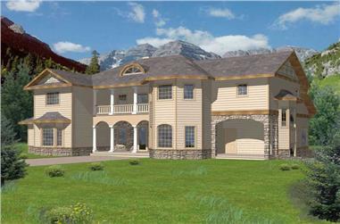 6-Bedroom, 3798 Sq Ft Craftsman Home Plan - 132-1191 - Main Exterior