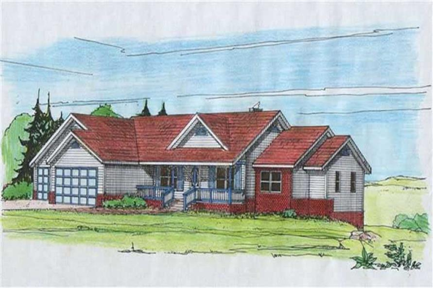 Main image for house plan # 9393
