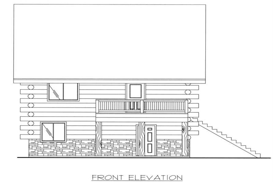 This image shows the front elevation.