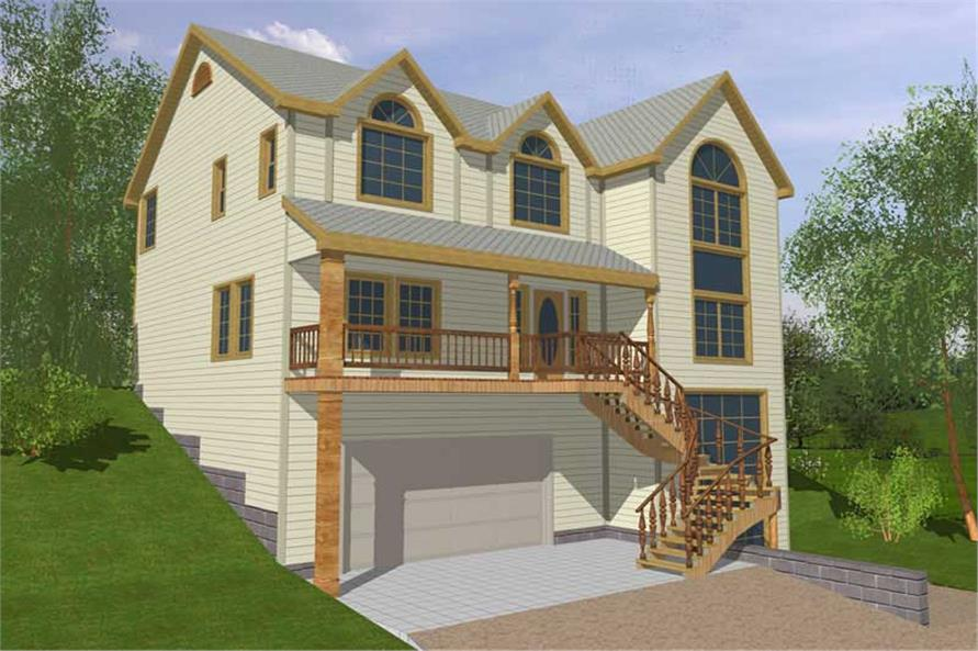 Main image for house plan # 9409