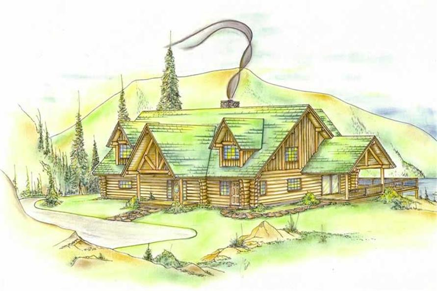 Log Cabins Color Rendering.