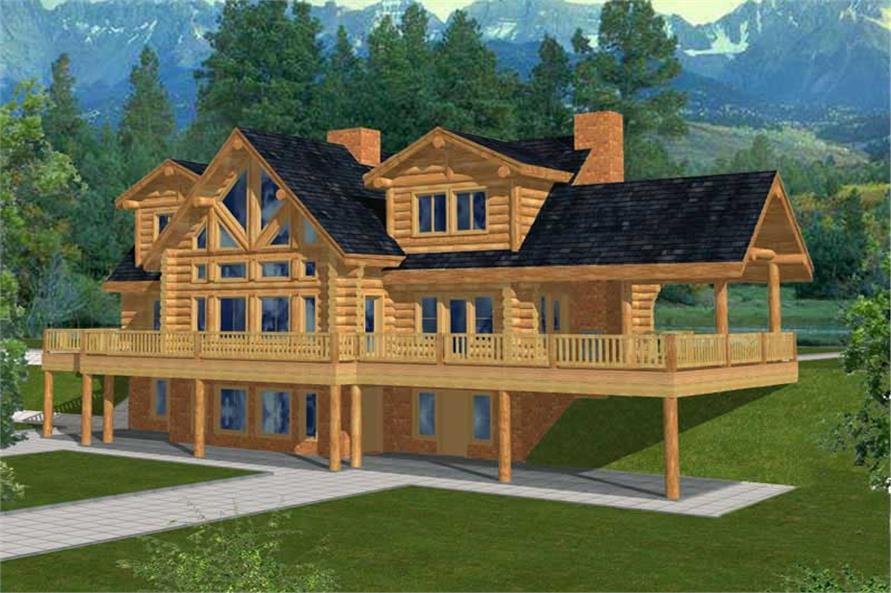 Log Cabins Color Rendering.
