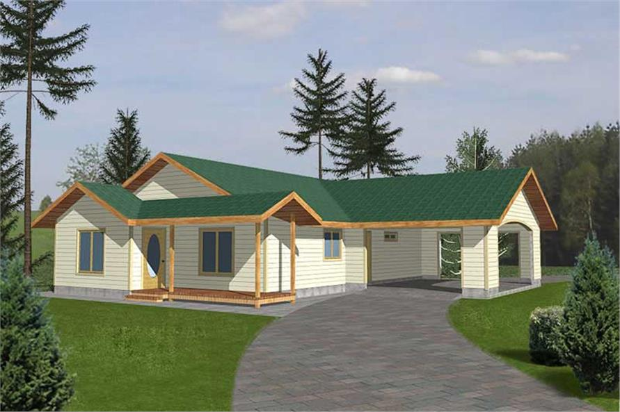 Main image for house plan # 9982