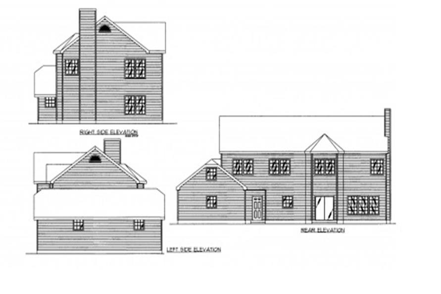 132-1308: Home Plan Rear Elevation