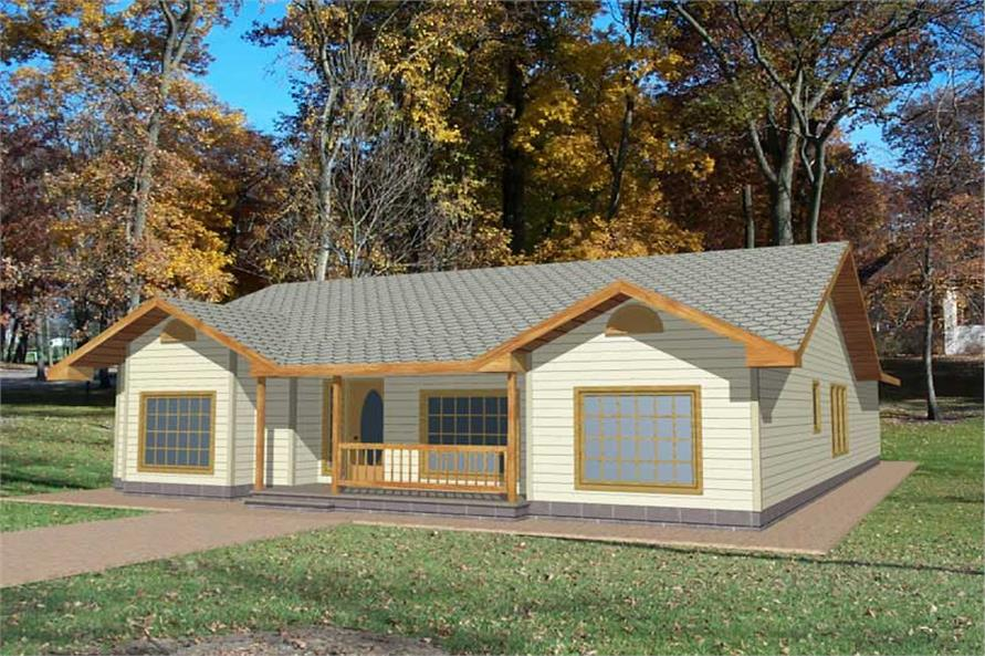 Main image for house plan # 8787